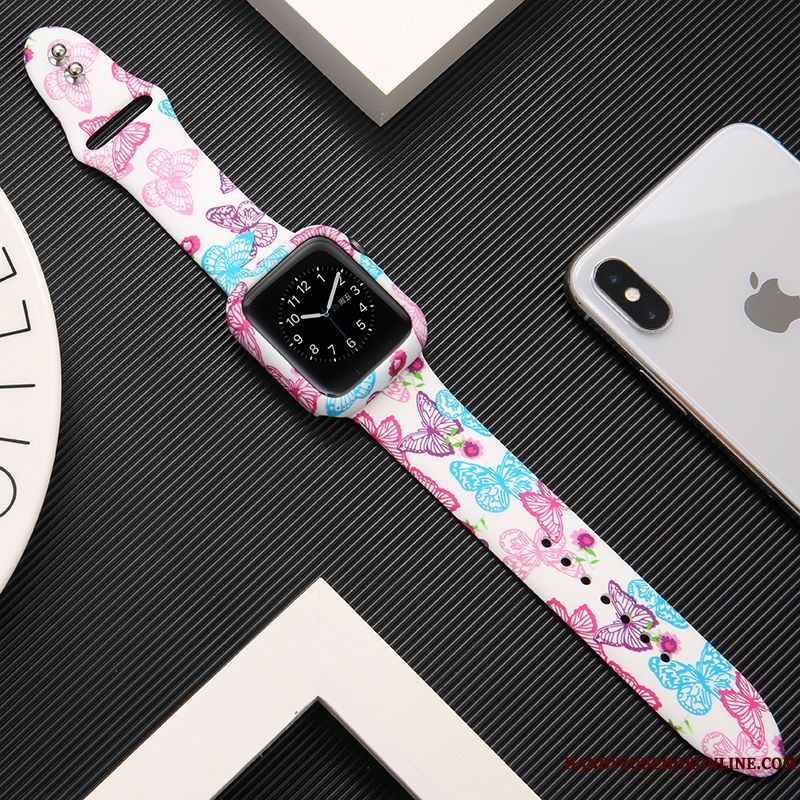 Skal Apple Watch Series 1 Kreativa Trend Tryck, Fodral Apple Watch Series 1 Påsar Rosa