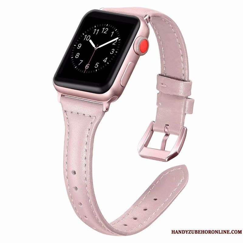 Skal Apple Watch Series 1 Läder Bra Rosa, Fodral Apple Watch Series 1