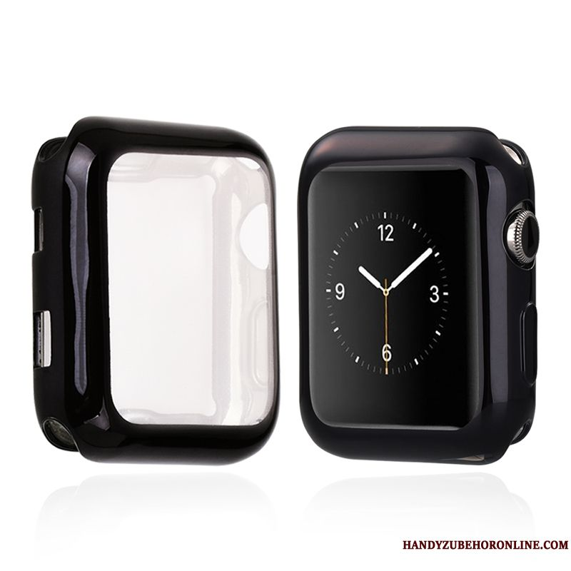 Skal Apple Watch Series 1 Silikon Transparent Svart, Fodral Apple Watch Series 1 Påsar Tunn
