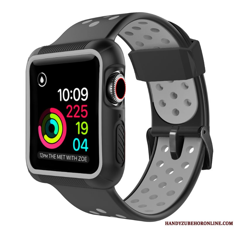Skal Apple Watch Series 1 Skydd Svart Bicolor, Fodral Apple Watch Series 1 Trend Fallskydd