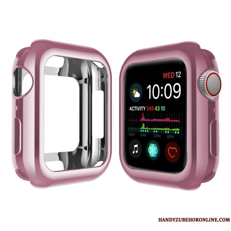 Skal Apple Watch Series 4 Mjuk Plating Pu, Fodral Apple Watch Series 4 Påsar Rosa