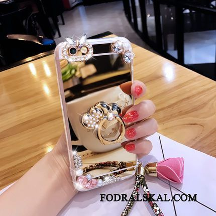 Skal Samsung Galaxy A3 2016 Strass Blommor Guld, Fodral Samsung Galaxy A3 2016 Support Ring Trend