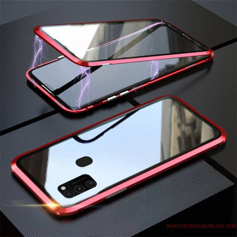 Skal Samsung Galaxy M30s Skydd Ny Magnetic, Fodral Samsung Galaxy M30s Glas Fallskydd