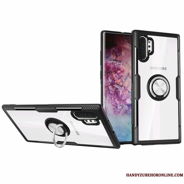 Skal Samsung Galaxy Note 10+ Support Magnetic Transparent, Fodral Samsung Galaxy Note 10+ Skydd Fallskyddtelefon