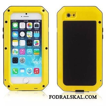 Skal iPhone 4/4s Metall Armortelefon, Fodral iPhone 4/4s Skydd Gul Ny